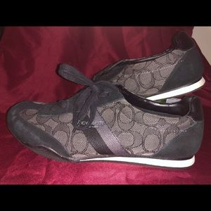 Women's size 8 black coach shoes
